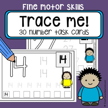 Fine motor skills task cards - NUMBERS - writing practice