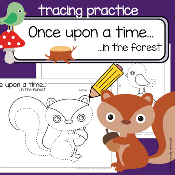 Fine motor skills  - tracing practice - FOREST - Occupatio