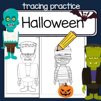 Fine motor skills  - tracing practice - HALLOWEEN - Occupa