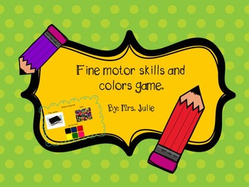Fine motor skills with colors game.