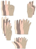Finger Counting Hands Clip Art:  Show Numbers From 1 to 10