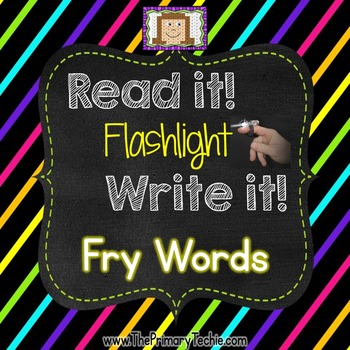 Finger Flashlight Fry Words