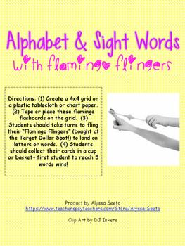 Finger Flinger Alphabet & Sight Word