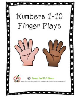 Finger Plays for Numbers 1 to 10