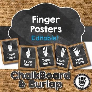 Finger Sign Posters