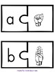 Finger Spelling and Letters Puzzle Piece Match
