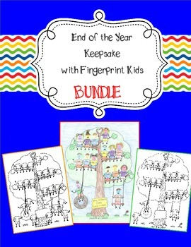 Fingerprint Kids End of the Year and Autograph Page
