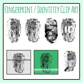 Fingerprints / Identity Clip Art Set for Commercial Use