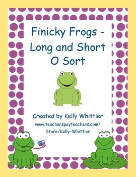Long and Short O Sort - Frog Themed