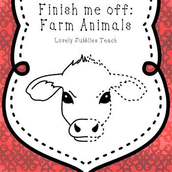 Finish Me Off: Farm Animals Clip Art