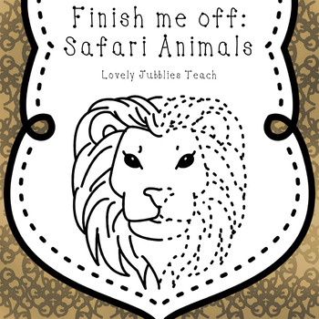 Finish Me Off: Safari Animals Clip Art