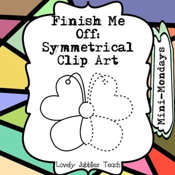 Finish Me Off: Symmetrical Clip Art