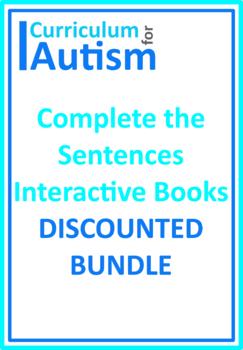 Finish The Sentences Interactive Books BUNDLE, Autism, Spe