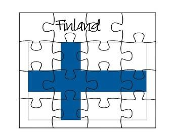 Finland Flag Puzzle