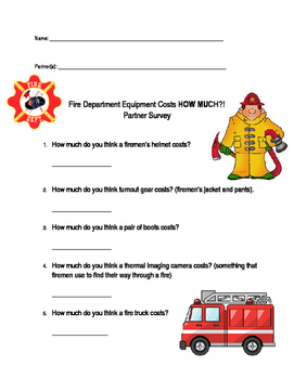 Fire Dept question and answer sheet