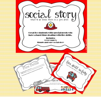 Fire Drill Social Story - Short and Simple - Autism - Spec