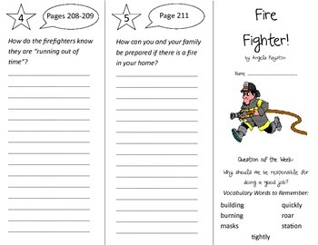 Fire Fighter Trifold - Reading Street 2nd Grade Unit 5 Week 1
