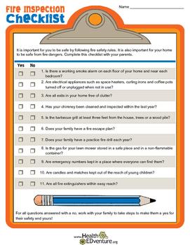 Fire Inspection Checklist