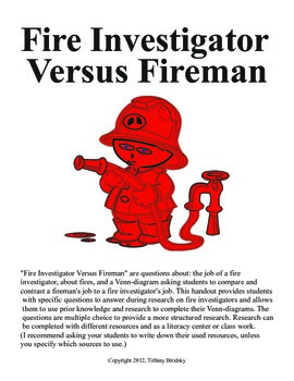Fire Investigator Versus Fireman Fire Week Research Questi