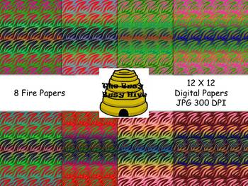 Fire Papers {8 backgrounds for personal & commercial use}