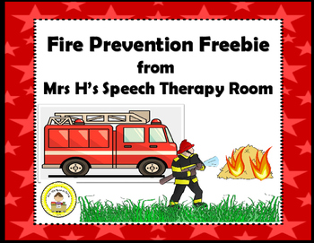 Fire Prevention Speech Therapy Freebie