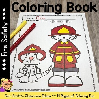 Coloring Pages for Fire Safety