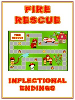 Fire Rescue Inflectional Word Endings - ELA First Grade Ga