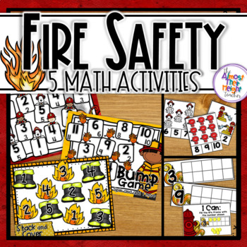 Fire Safety Week: Math Centers - 5 Fire Themed Number Sens