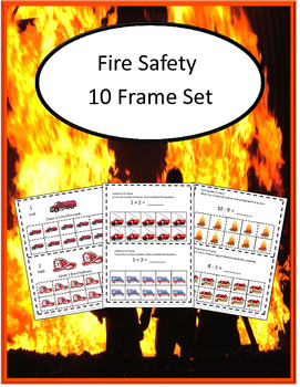 Fire Safety 10 Frame Counting Addition, Subtraction. P-K,K