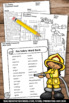 Fire Safety Week Crossword Puzzle Worksheet No Prep Vocabu