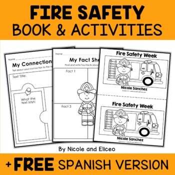 Fire Safety Week Book Activities