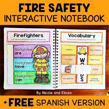 Fire Safety Activities Interactive Notebook