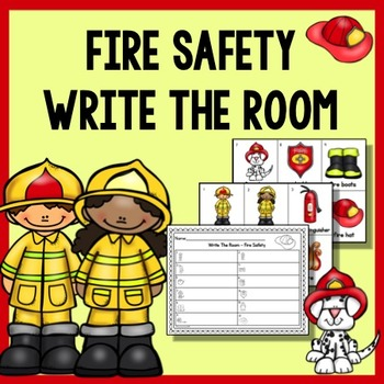 Fire Safety Write The Room & Writing Prompts