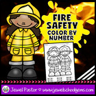 Fire Safety Activities ☆ Fire Safety Week ☆ Fire Safety Color By Number
