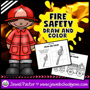 Fire Safety Week Activities (Draw and Color Worksheets)