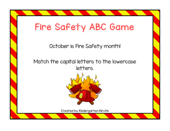 Fire Safety ABC Game