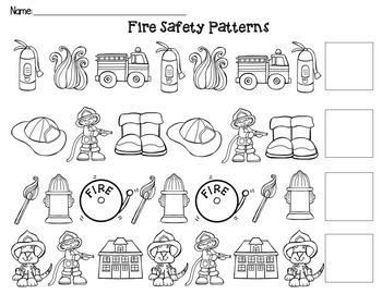Fire Safety ABC Patterns