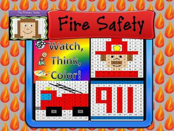 Fire Safety Bundle Watch, Think, Color Games - EXPANDING B