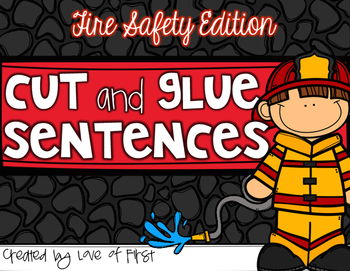 Fire Safety Cut and Glue Sentences