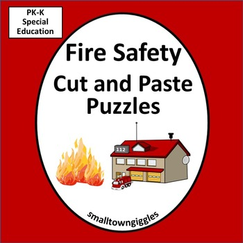 Fire Safety Cut and Paste Puzzles
