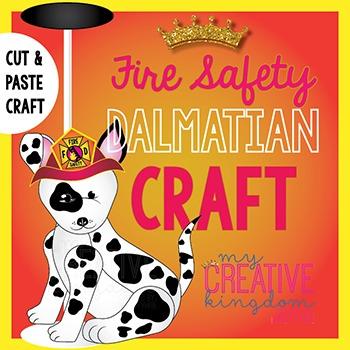 Fire Safety Dalmatian Dog Craft (Glyph)