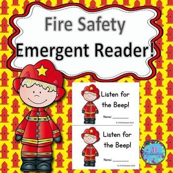 Fire Safety Activites!  Emergent Reader! Fire Safety Resources