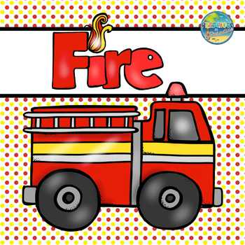 Fire Safety File Folder Game
