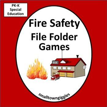 Fire Safety Activities Kindergarten Math & Literacy Center