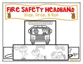 Fire Safety Headband - Stop, Drop, & Roll