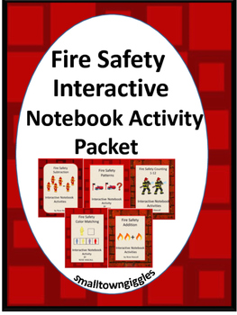 Fire Safety Interactive Notebook Cut and Paste Set