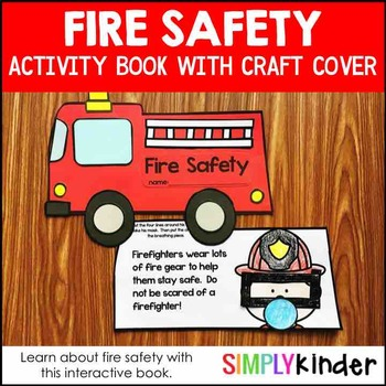 Fire Safety Book with Craft Cover Option