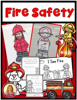 Fire Safety Mini Unit (Fireman Craft, Posters, Reading, Ma