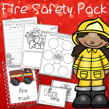 Fire Safety Week Pack Book, Posters, Craft and Activities