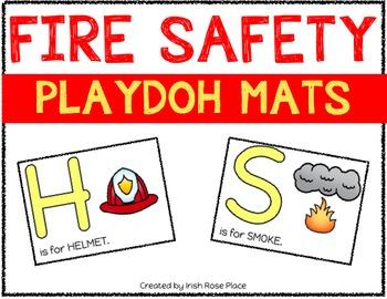 Fire Safety Playdoh Mats